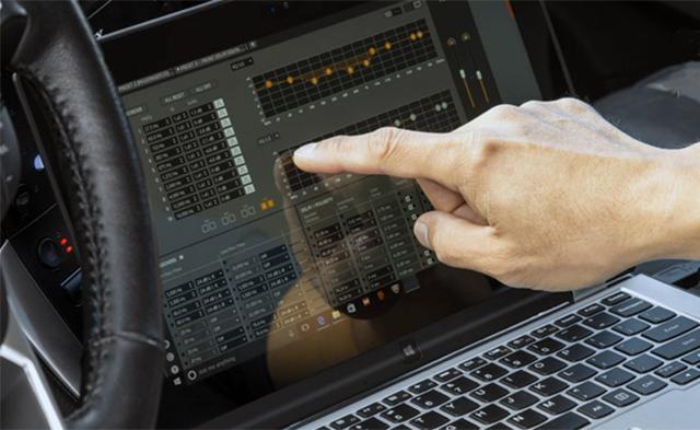 Configuracion de DSP de car audio mediante ordenador portatil