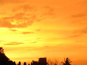 Photo: orange sky -  from my balcony.