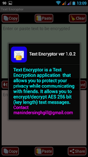 6 AES Message Encryptor for SMS App screenshot