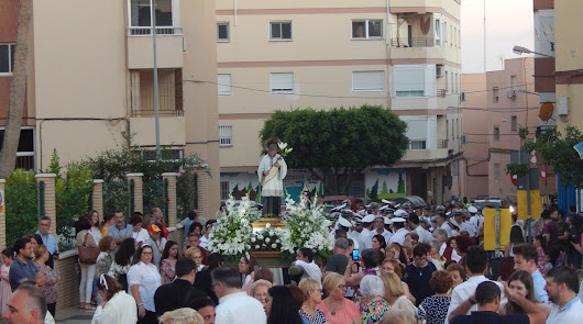 Procesión y cultos por San Luis Gonzaga
