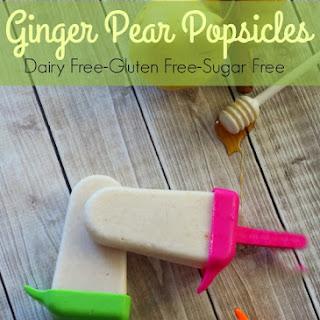Ginger Pear Popsicles