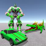 Crocodile Robot Car Transform: Crocodile Simulator icon