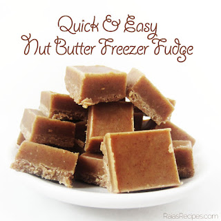 Quick & Easy Nut Butter Freezer Fudge (gluten, grain, dairy free, paleo)