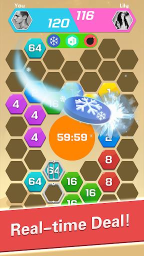 Merge  Block Puzzle - 2048 Hexa apkpoly screenshots 3