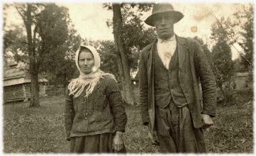 Photo: Karolina i Stanisław Kieta - lata 40-te.