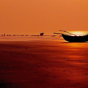 by Arijit Banerjee - Landscapes Sunsets & Sunrises ( , landscape, beach, silhouette )