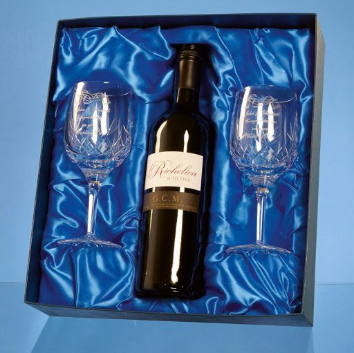Engraved Crystal Champagne Flute & Prosecco Set