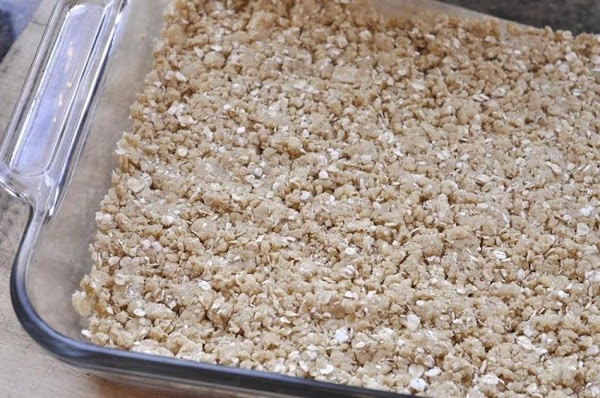 Press 1/2 crumb mixture (about 3 cups) in bottom of baking dish. Bake at...