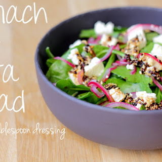 Spinach and Feta Salad with 2 tablespoon dressing