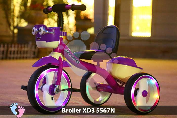 Xe đạp 3 bánh có có đèn bánh xe cho bé