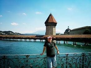 Photo: s mostem Kapellbrücke, největší dominantou Luzernu za zády