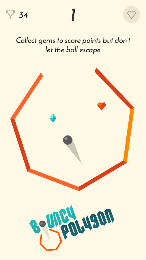 Bouncy Polygon- screenshot