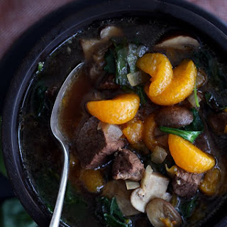 Orange Beef Teriyaki Soup.