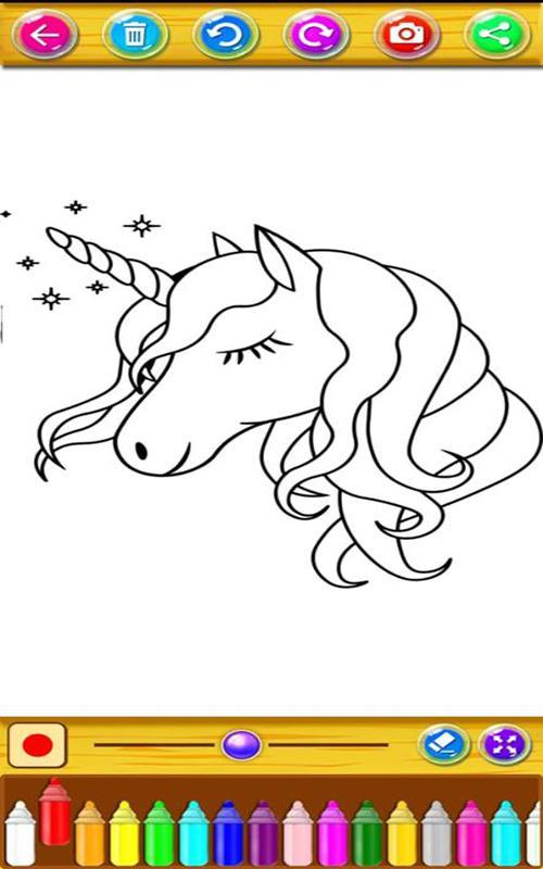 Buku Mewarnai Kuda Poni Dan Unicorn Kecilku Untuk Android Apk Unduh