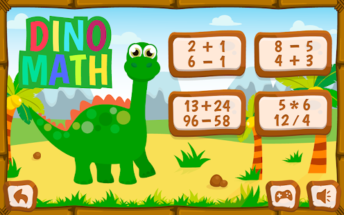 Dino math - free dino coloring game for kids - Android Apps on ...