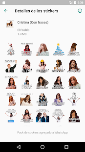 Cristina Stickers Screenshot
