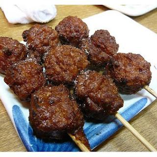 Chicken Meatball Yakitori.
