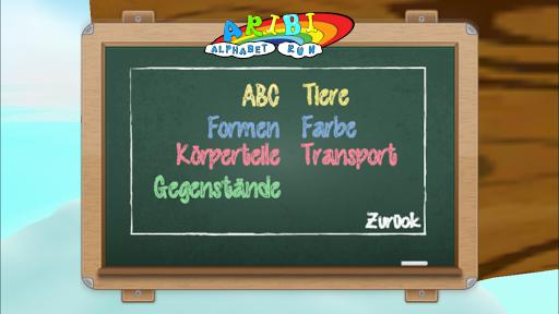 Alphabet Lauf Deutsch