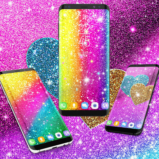 multi color glitter live wallpaper screenshot 3