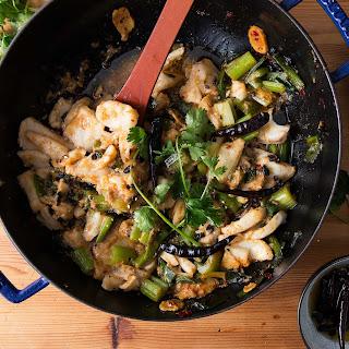 """Spicy Sichuan """"Water Boiled"""" Fish and Celery (Shui Zhu Yu)."""