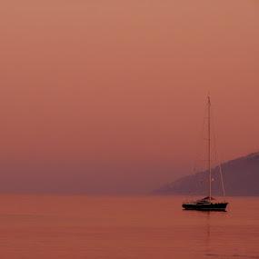 Sunset color by Jaksa Kuzmicic - Landscapes Waterscapes ( sunset, hvar )