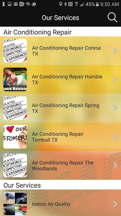 ASAP Cooling and Heating- screenshot