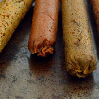 Seitan Sausages Four Ways [Vegan].