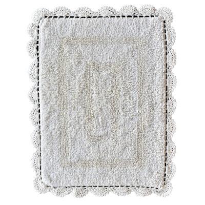 Набор ковриков для ванны Sofi De Marko Lukas кремовых 60х100/50х70 см