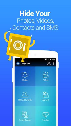 Vault-Hide SMS,Pics & Videos,App Lock,Cloud backup screenshot 1