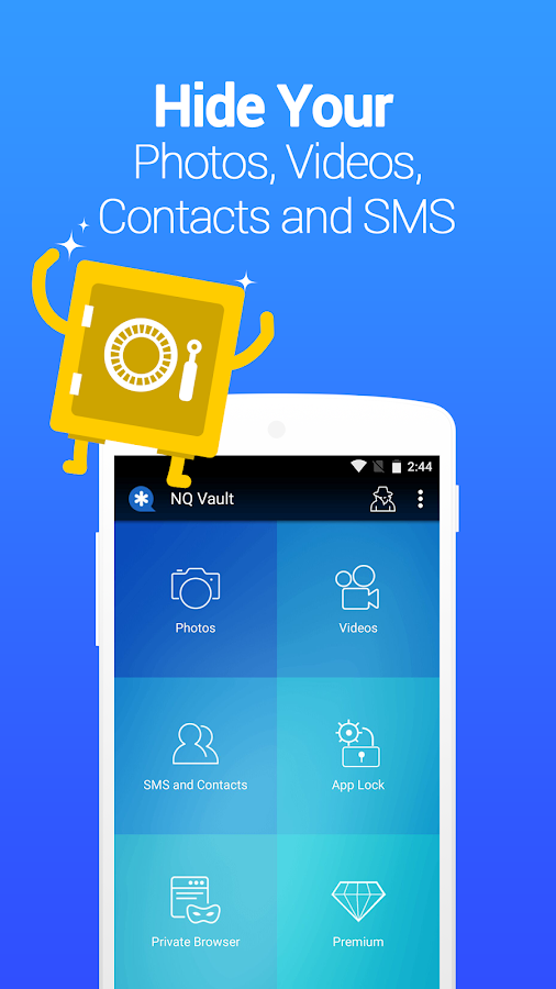 Vault-Hide SMS,Pics & Videos,App Lock,Cloud backup- screenshot
