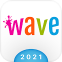 Wave Keyboard Background - Animations, Emojis, GIF icon