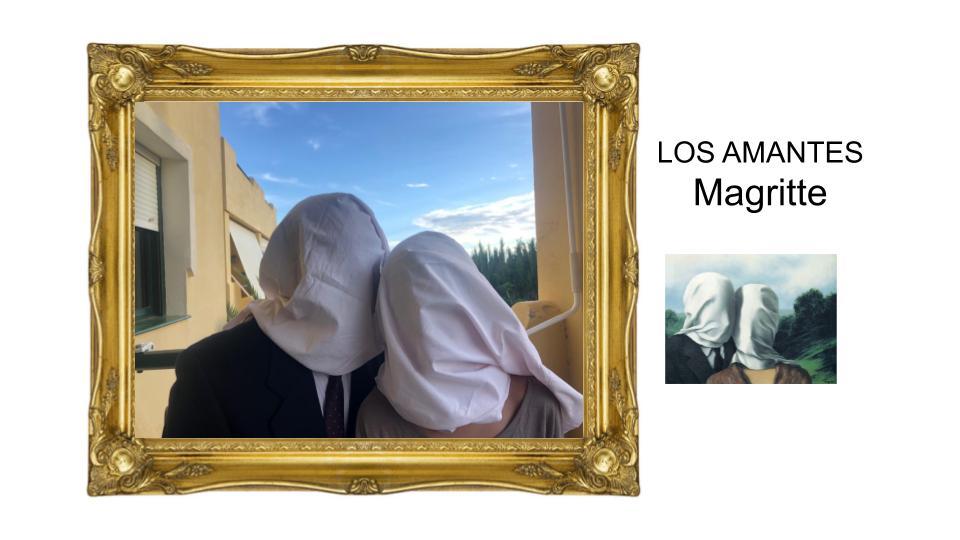 Alumna intepreta Los amantes de Magritte.