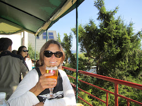 Photo: Colleen happy after a nice St. Hilaire flight & beer