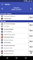 Screenshot of AHL ScoreTracker