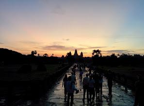 Photo: Sunrise over Angkor Wat.