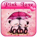 Pink Love Bear Theme icon