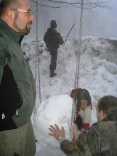 Photo: Kugla snijega na ljuljački koja će postati ...