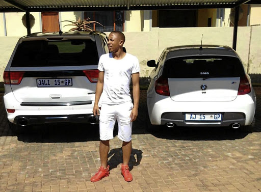 Andile Jali's manager says his client denies driving under the influence. Cops say otherwise.