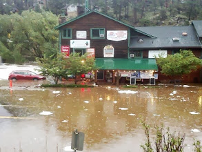 Photo: Cactus Jack's and Hwy 73 flooded