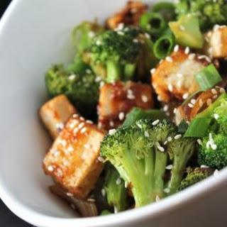 Sesame Tofu and Broccoli