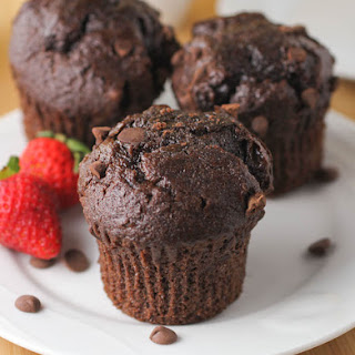 Double Chocolate Chip Muffins.