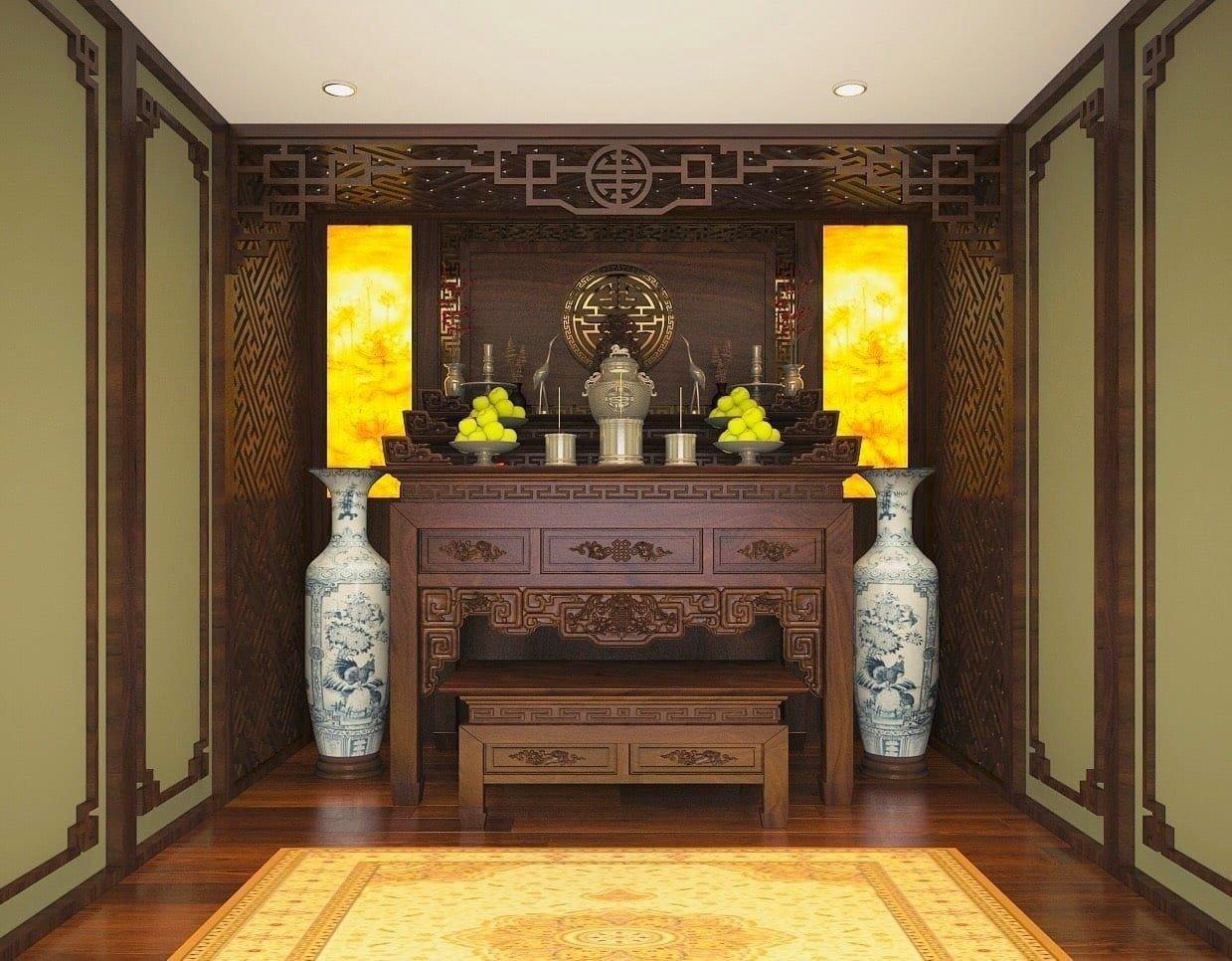 Các thiết kế bàn thờ hiện đại được giới thiệu tới khách hàng