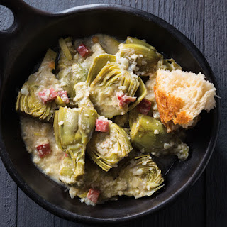 Artichokes with Almond Sauce.