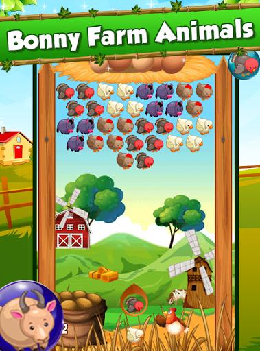农场动物 - 泡泡爆破游戏