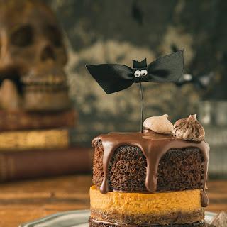 Chocolate and Pumpkin Pie Layer Cake
