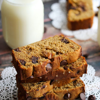 Chickpea Flour Banana Bread with Dark Chocolate and Walnuts (Gluten-Free).