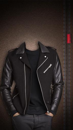 男性のファッションジャケット自分撮りのフォトエディタ