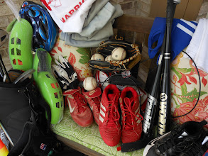 Photo: There were bats, balls, cleats, golf clubs and shoes, basketballs and basketballs shoes, soccer balls and shin guards. You can see that the list goes on and on.