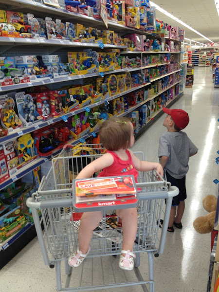 Photo: They were patient for us, so now it is time to be patient for them. Like we could avoid the toy aisle.