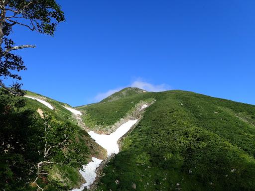 カンクラ雪渓には残雪